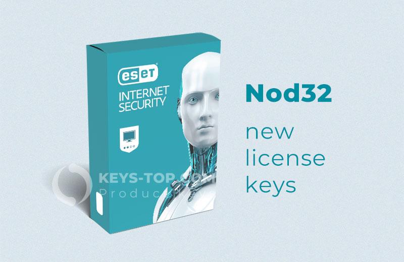 Free license keys for Eset Nod 32