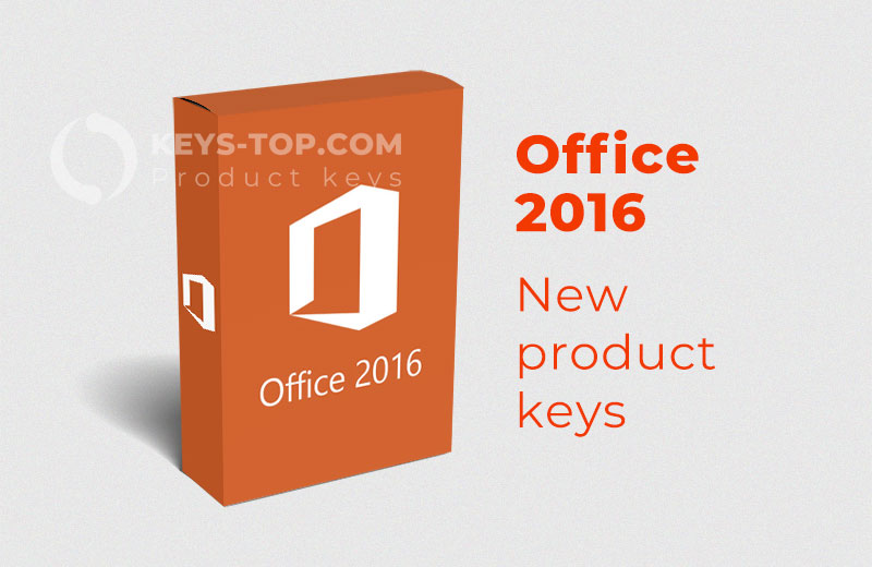 Microsoft Office 2016 product keys for free