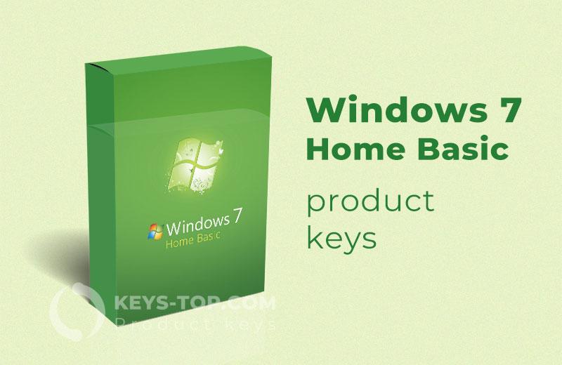 Free Windows 7 Home Basic product keys