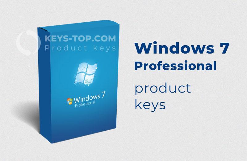 Free Windows 7 Professional product keys